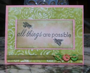 All Things Possible 1st Online Card Class