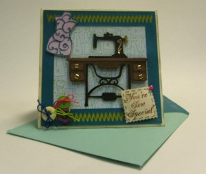 Sew Nice Card using Crafty Mice SVG Collection