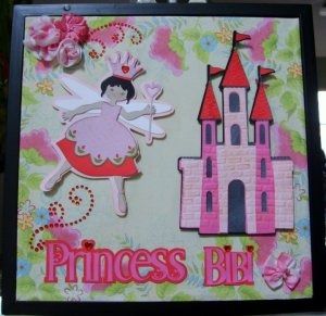 Princess Bibi 12x12 Layout Frame for Grandniece.