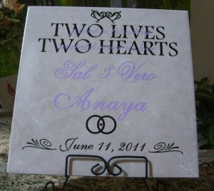 Ceramic Tile for Niece and Nephew's wedding