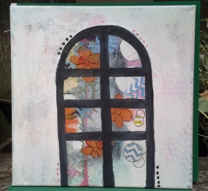 Mixed Media Window - unfinished