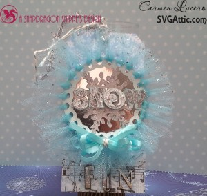 Snow Fun Wreath Tag